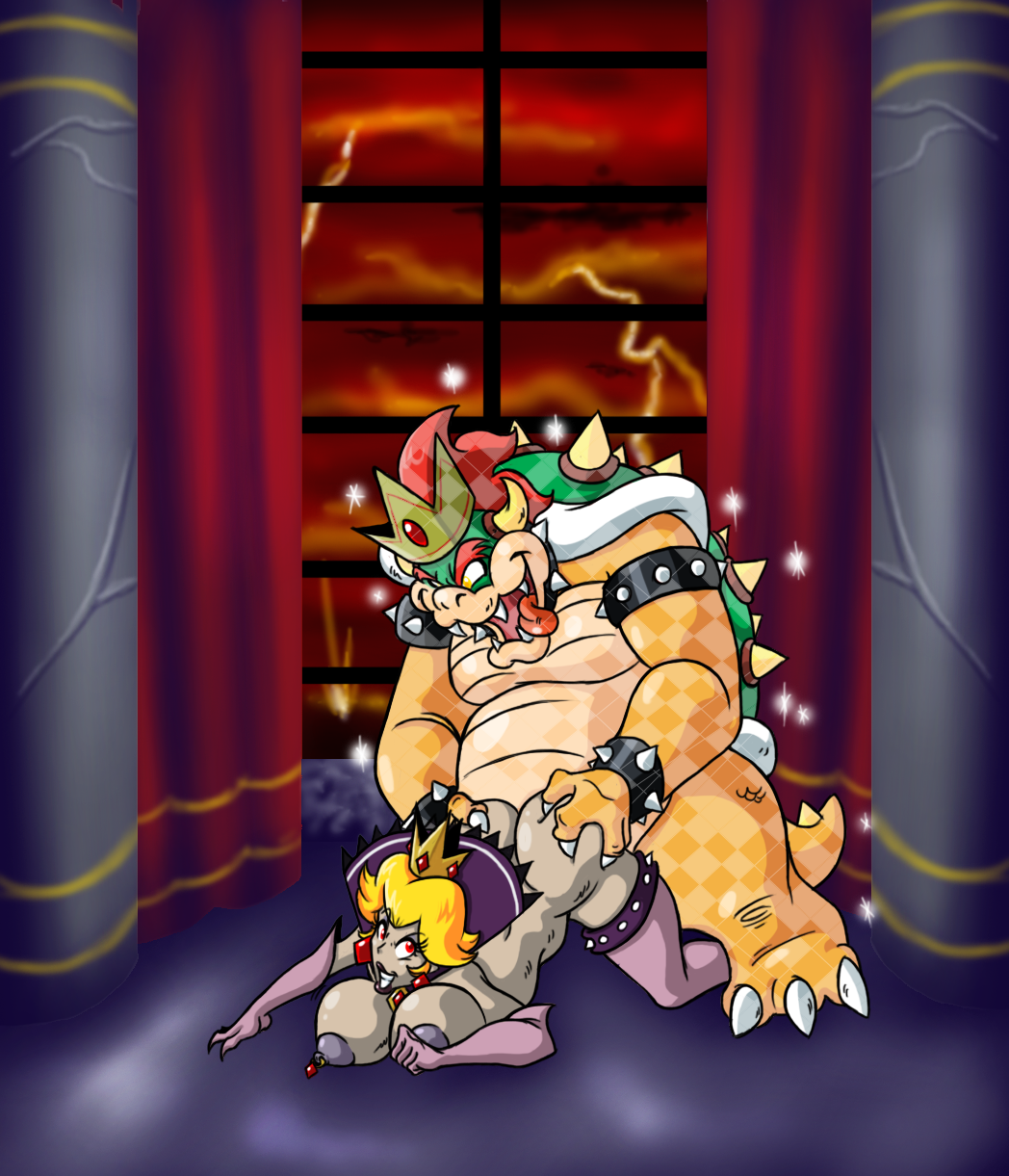 in peach and bed bowser Ball of junk delta rune